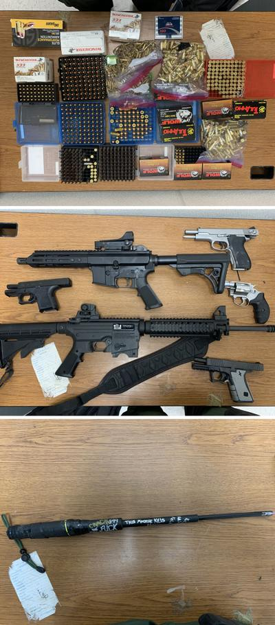 Drugs, guns and ammo seized from vehicle