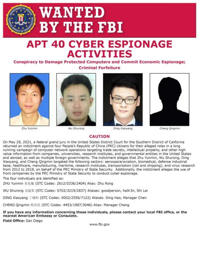 US Attorney releases details of Chinese hacking case