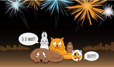 PAWS AND PAGES: Pets and fireworks don't mix
