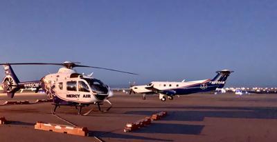 Air, ground ambulances keep busy amid pandemic