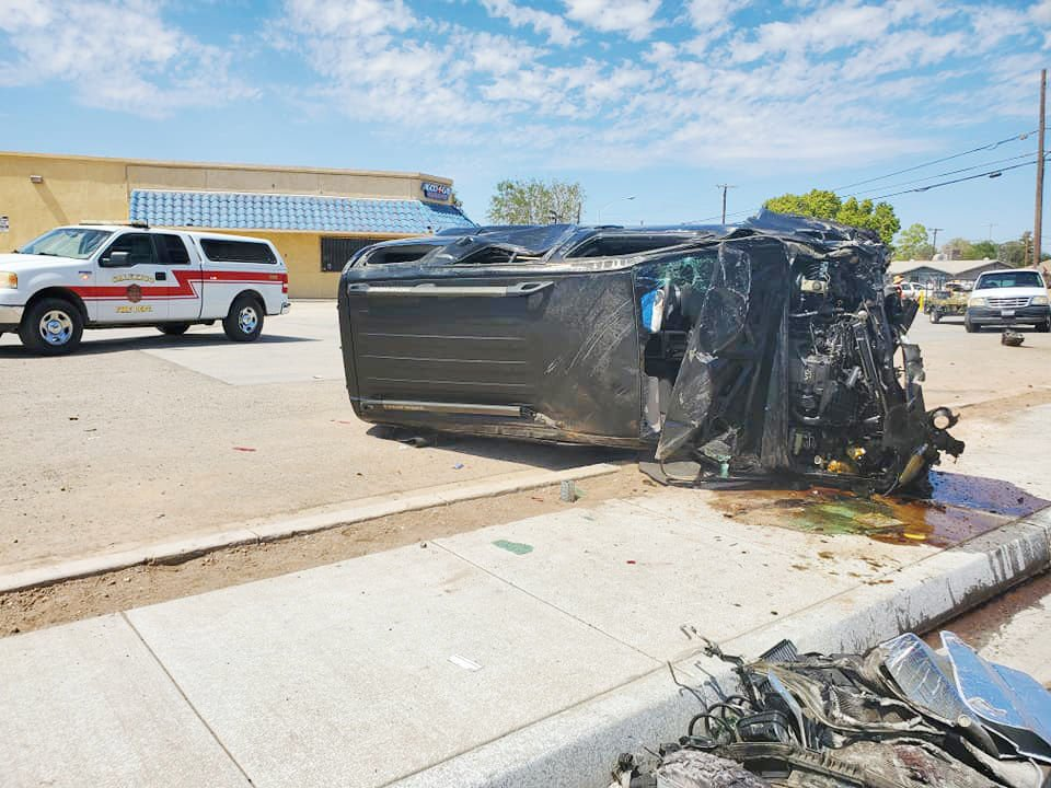 Valley Briefs: CALEXICO: Two hospitalized after vehicle collision