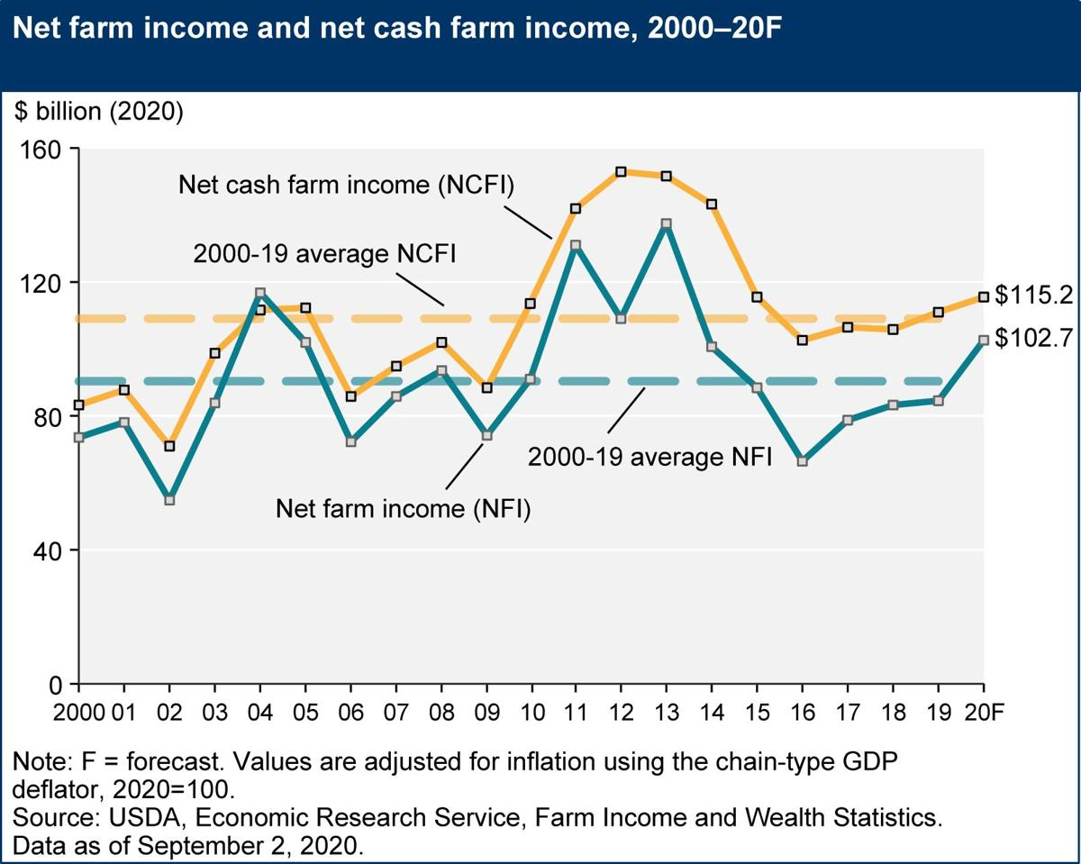 USDA projects net farm income to be up for 2020