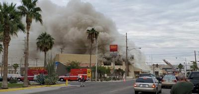 Calexico structure fire