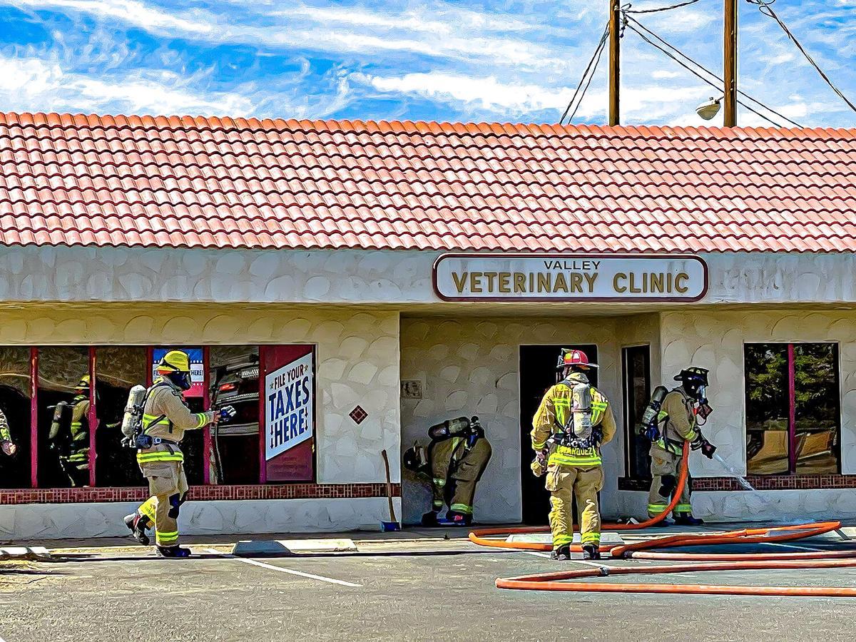Fire inside former vet clinic extinguished
