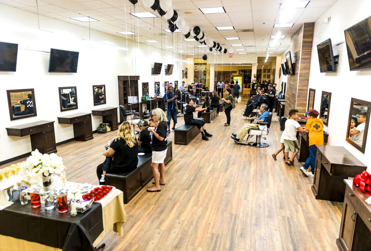 Headquarters Barbershop celebrated the grand opening of their new, larger location inside the Imperial Valley Mall