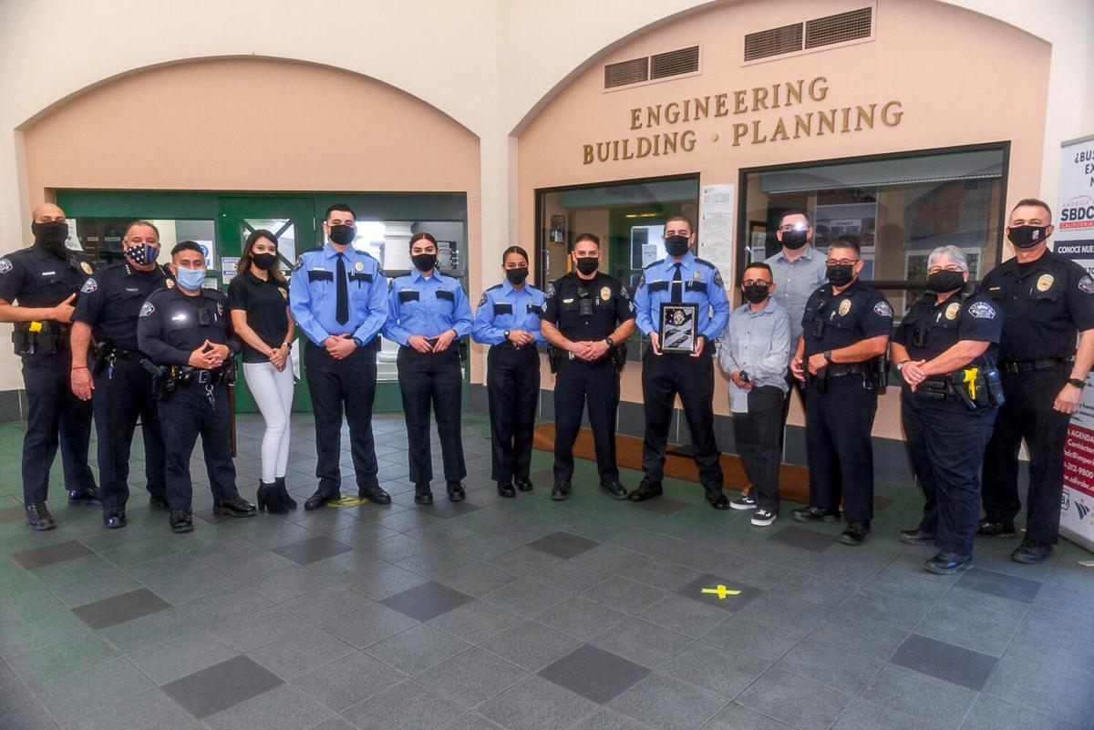 Former Calexico police explorer recognized