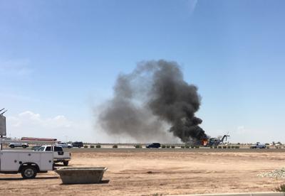Blaze forces Marine helicopter to make emergency landing