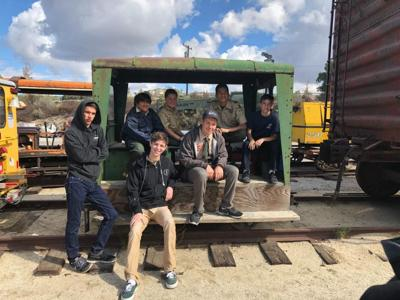 Boy Scouts ride the rails