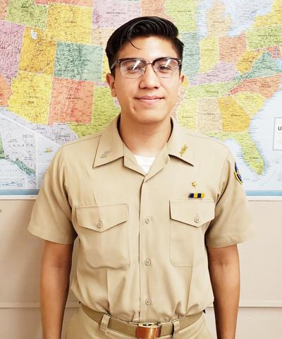 Calexico High School Navy JROTC Cadet of the Week: Diego Martinez
