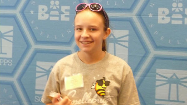 Local speller tackles National Bee today