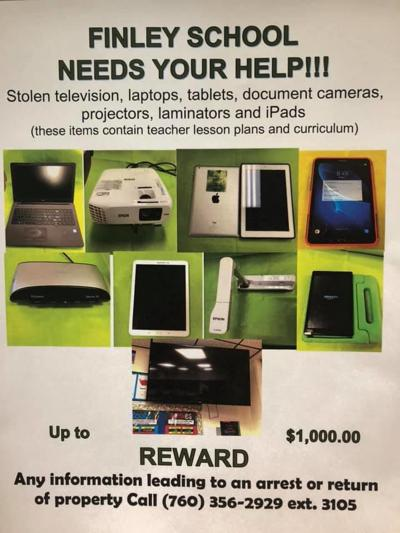 Award offered for stolen classroom equipment