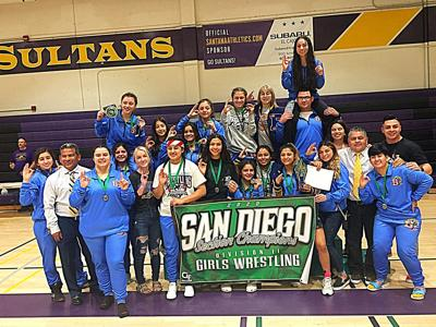 Brawley girls crush competition to secure second CIF wrestling title
