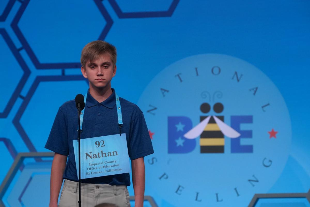 Ostermann ends spelling bee run tied for 17th