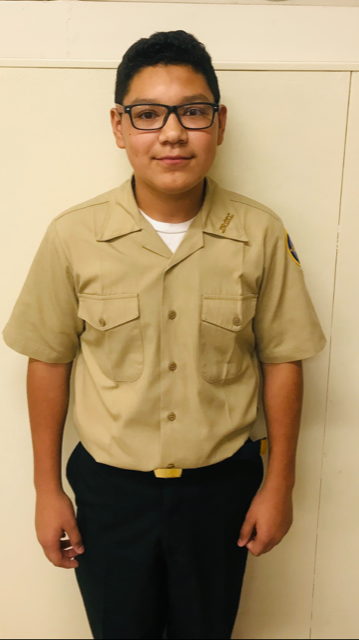 Calexico High School Navy JROTC Cadet of the Week: David Zazueta