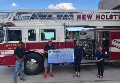 New Holstein Kiwanis Club has made a $500 donation to the New Holstein Fire Department