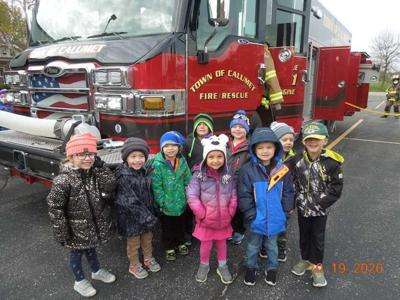 Holyland Catholic School, located in Johnsburg, enjoyed a visit from the Calumet Fire Department