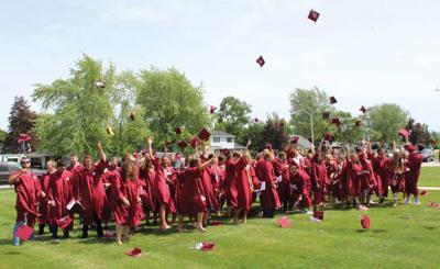 New Holstein High School class of 2020 celebrates.