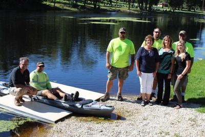 Kiel River Walk District has coordinated the installation of two kayak docks