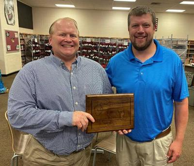 Tim Stadler was recently honored for his years of service
