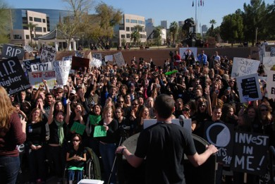 Students from across Arizona protest budget cuts
