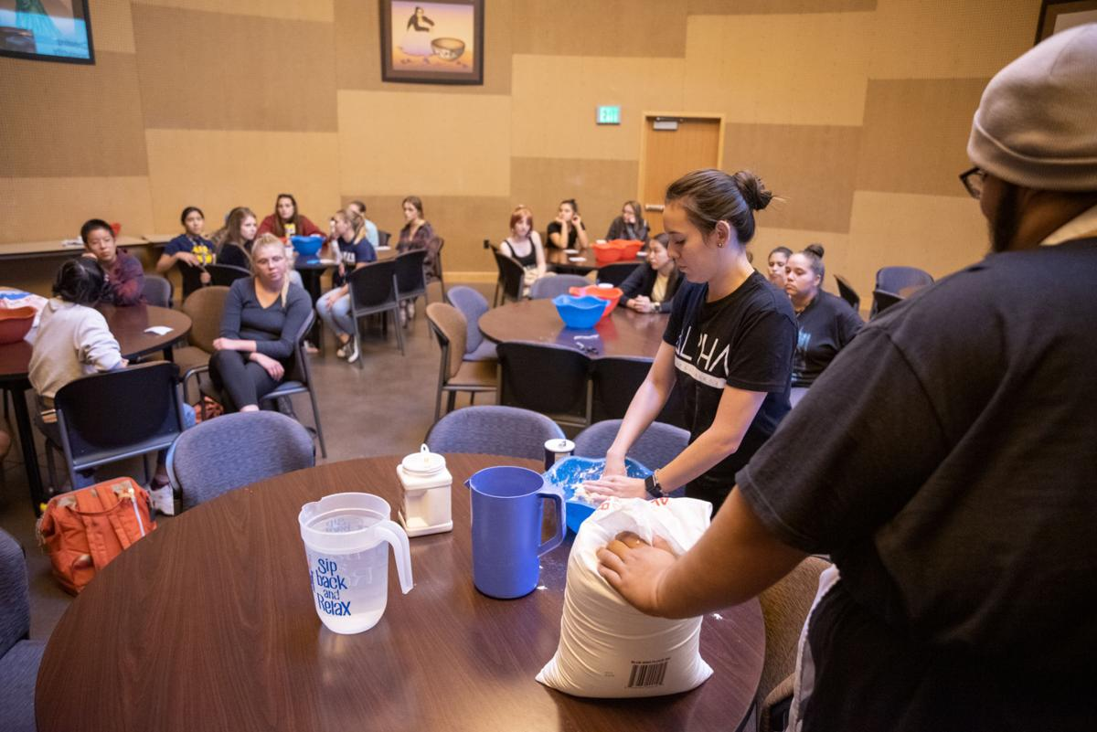 Community cooking in the cultural center