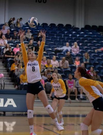 NAU volleyball breaks losing streak in win against Montana