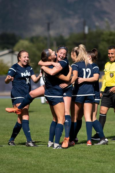 Women's soccer is victorious in the opening game of conference play