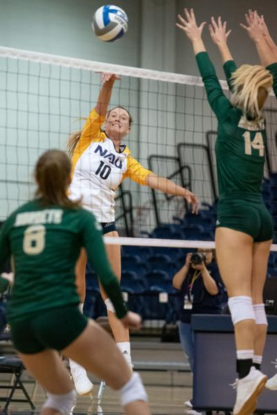 Volleyball wins another one at home against Sacramento State
