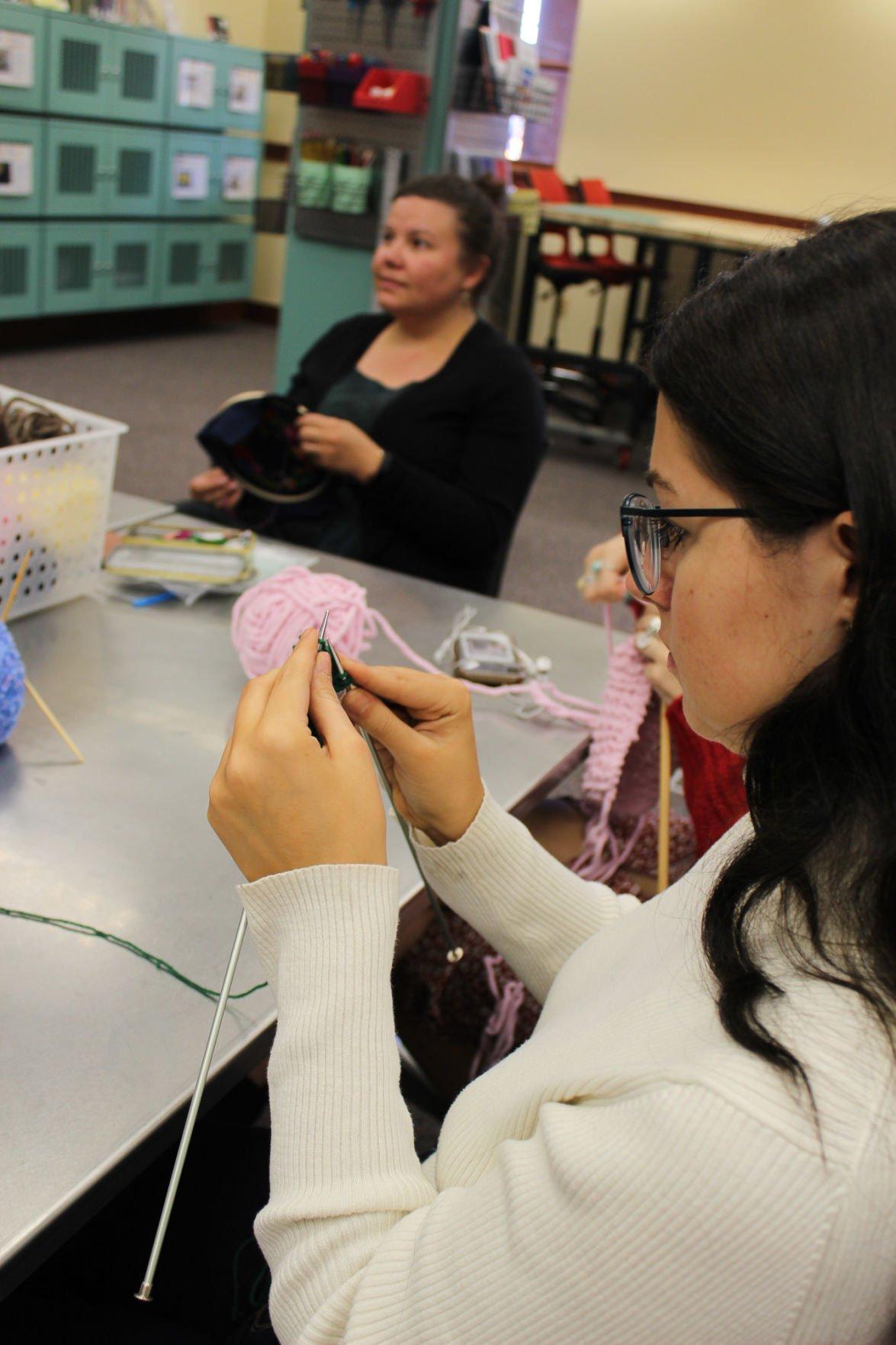 Knitters' Brown Bag weaves positivity