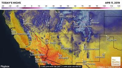 Strange weather for northern Arizona