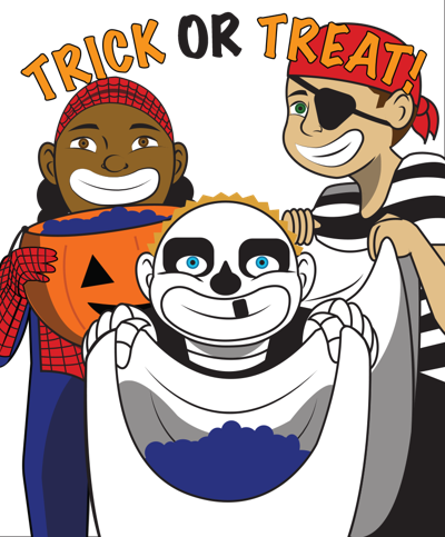 Ensuring children's safety while trick-or-treating