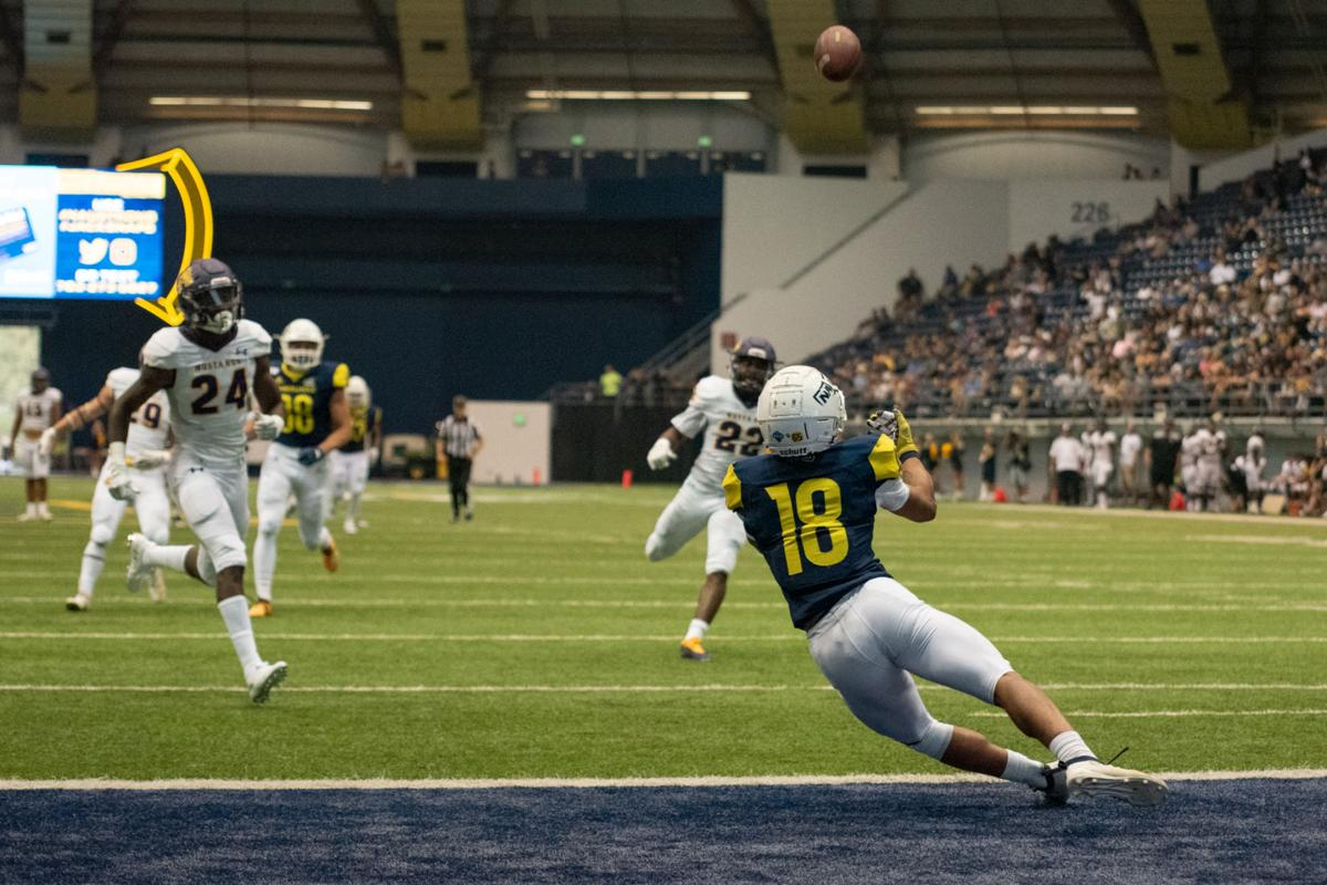 NAU football wins second home game with runaway victory to WNMU 55-21