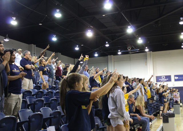 Women's volleyball finishes a perfect 9-0 in sets during the Lumberjack Classic