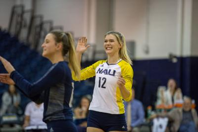 NAU women's volleyball tied their highest winning streak since 2016