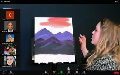 LEAP hosts virtual paint night for NAU students