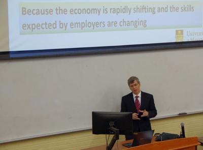Viktor Nemykin visits NAU as a potential dean of CEFNS