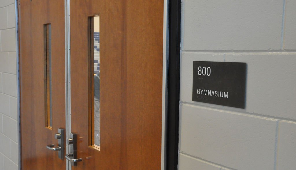 school gym doors. Butts County School System To Show Off New Gym Doors