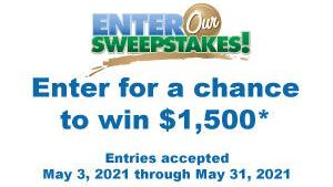 Enter for your chance to win $1,500 cash