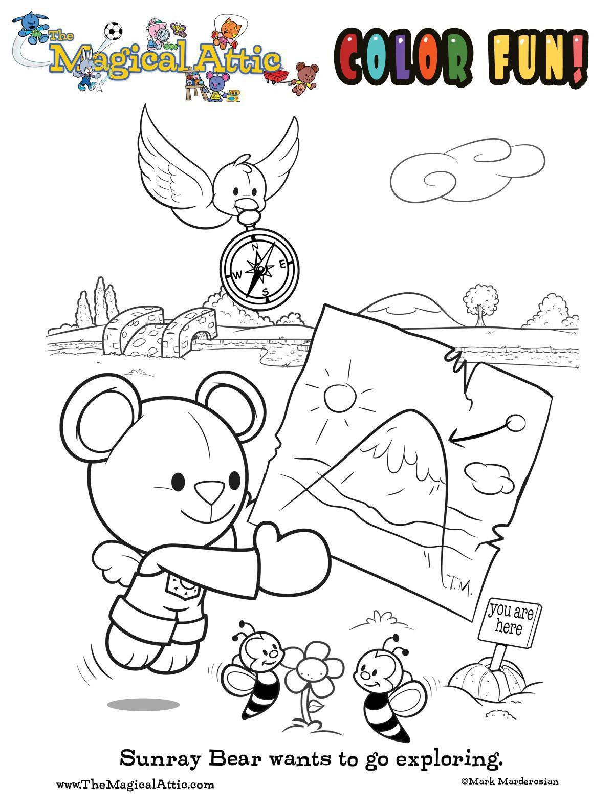 Coloring fun with Sunrar Bear