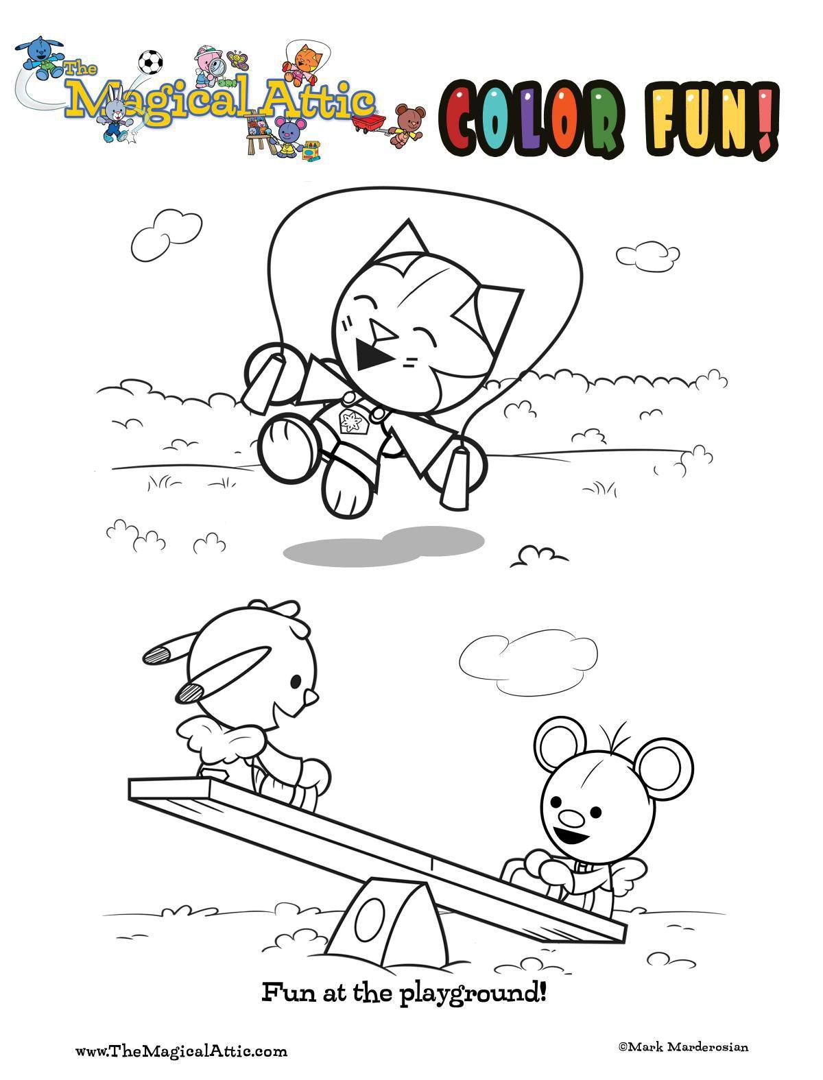 Coloring fun at the playground