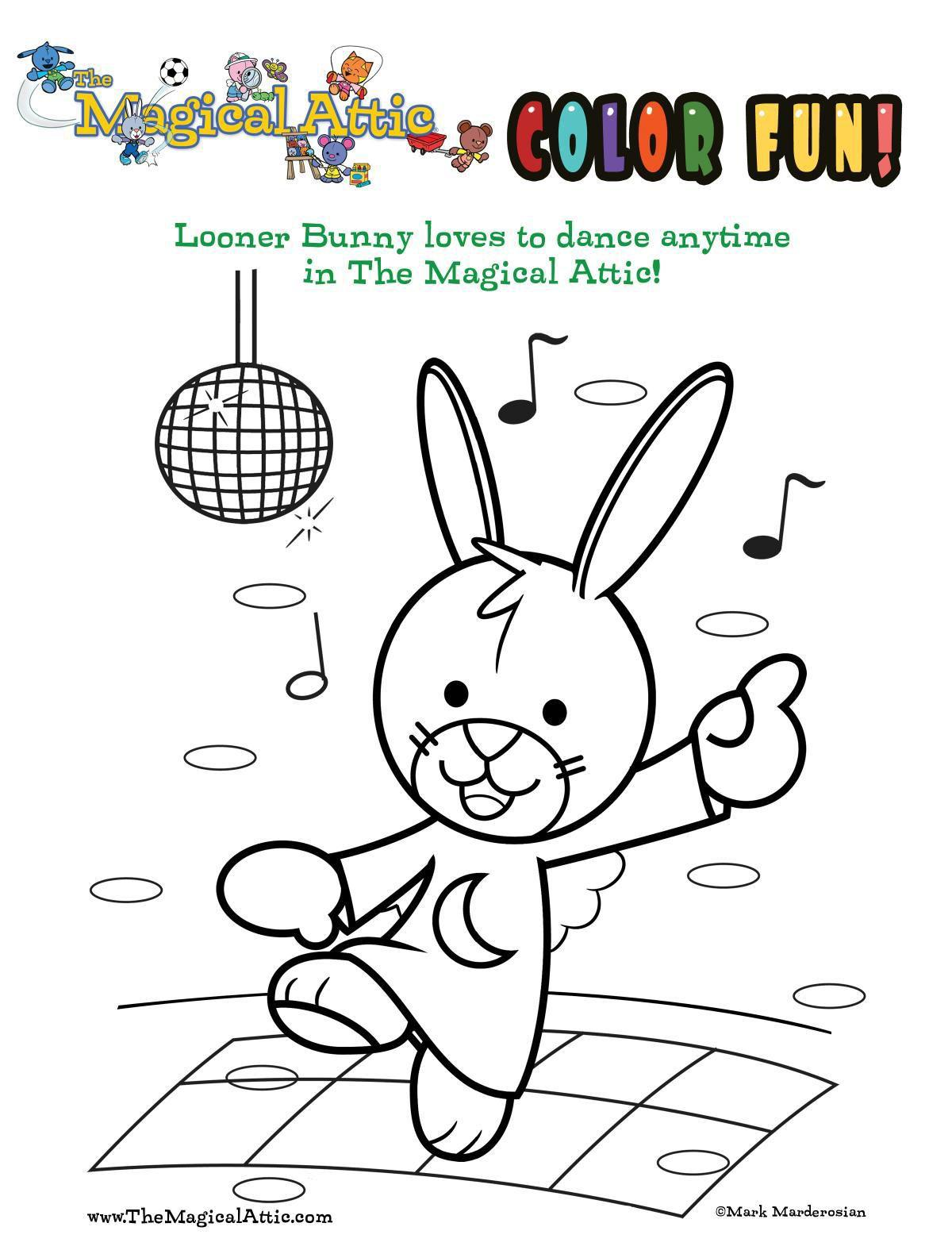 Coloring with Looner Bunny