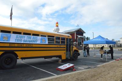 Zaxby's, LET host Stuff the Bus event