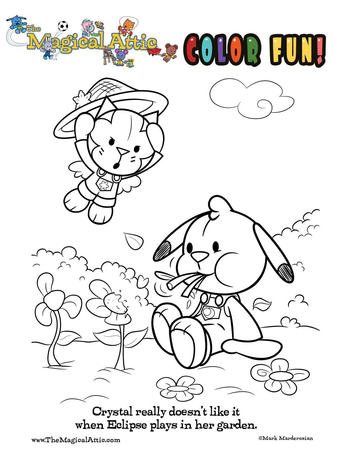 Coloring fun with Crystal Cat