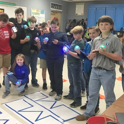 Piedmont students learn about robotics from Spheros and  Ozobots