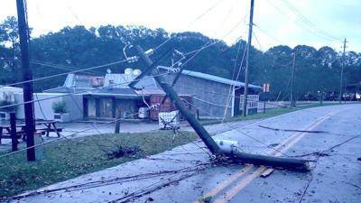 Tropical Storm Zeta brings down trees and power lines in Jackson