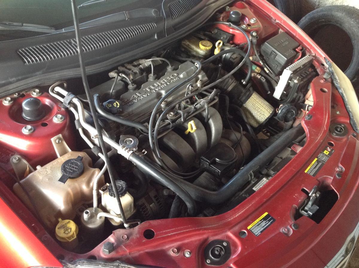 Engine hoses.