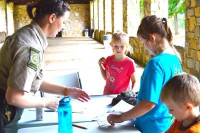 Junior Rangers earn badges at Indian Springs camp
