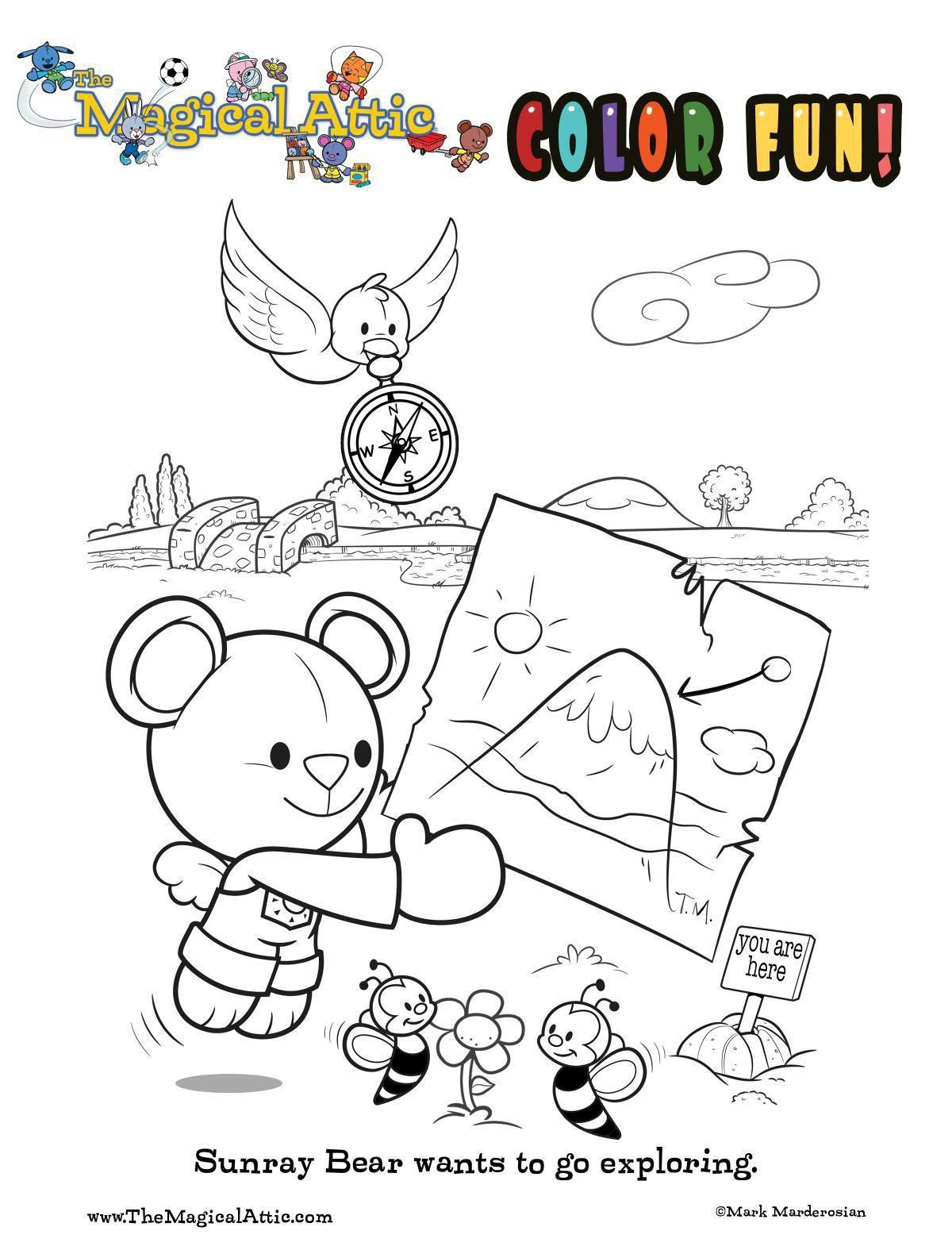 Exploring coloring fun with Sunray Bear