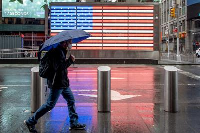 Carry an umbrella. It's going to be a wet Memorial Day weekend