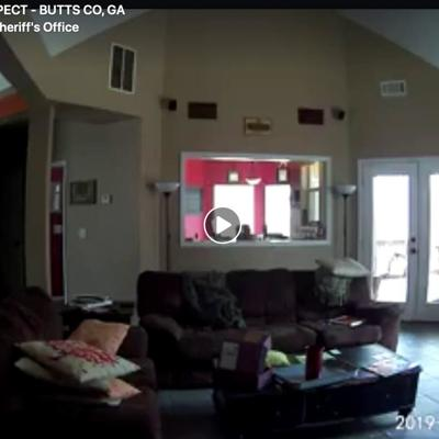 Video shows burglary suspect entering Butts County home